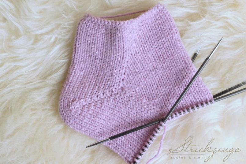 Socken mit Spickel Zwickel stricken