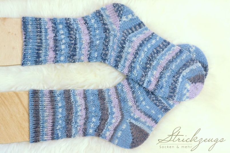Stricksocken aus Schachenmayr Regia 6-faedig North Pole Fb06091 soft rose