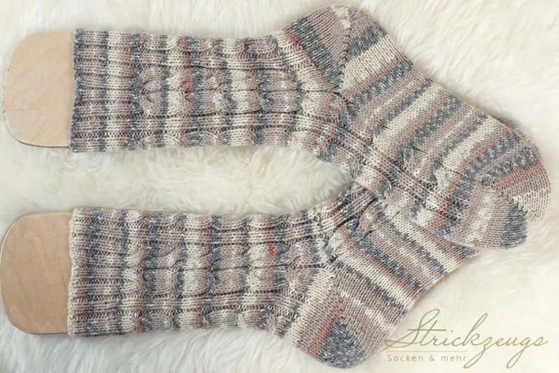 Stricksocken Regia North-Pole beige natur